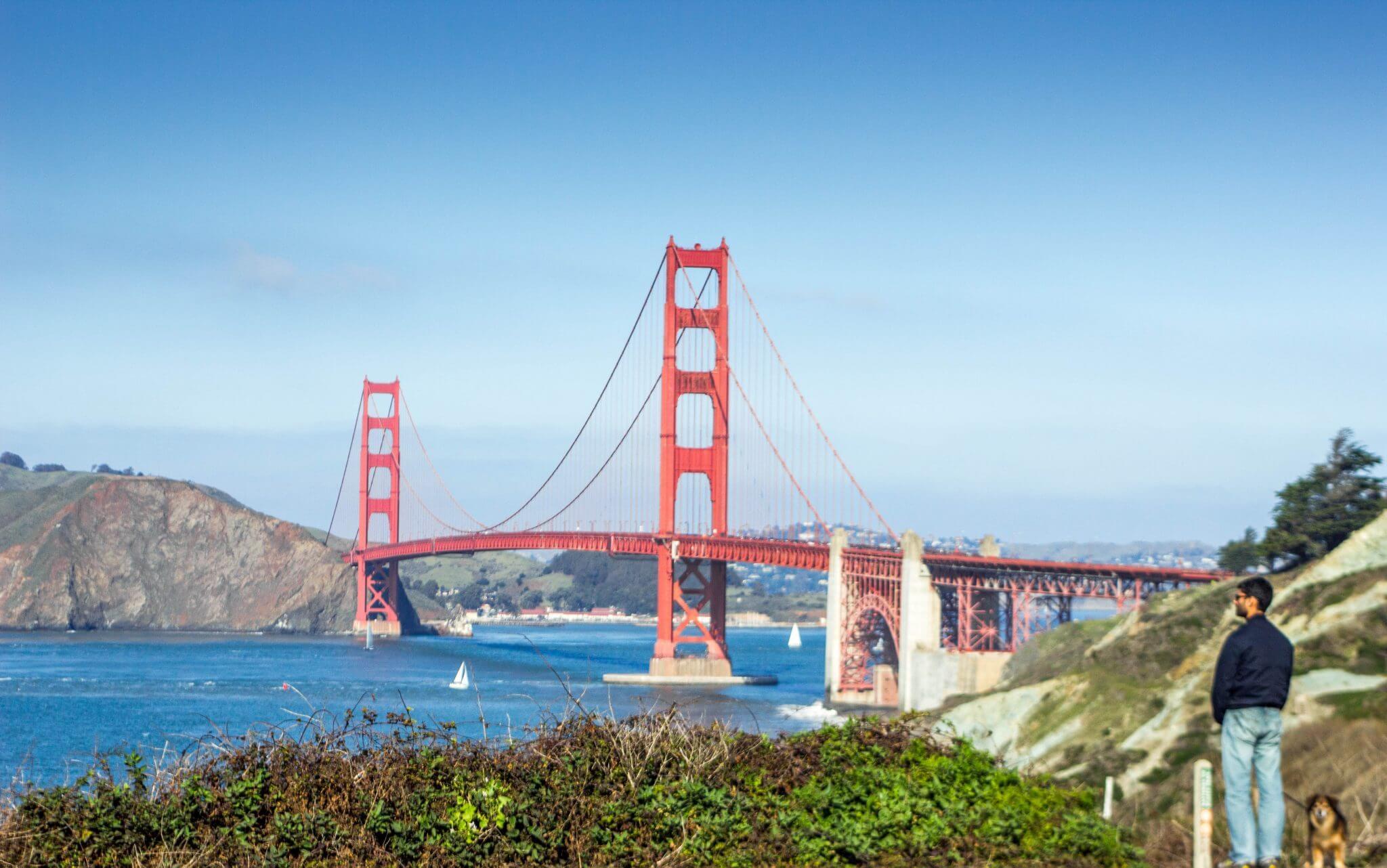 Golden gate bridge trail batteries to bluff Presidio Hiking San Francisco