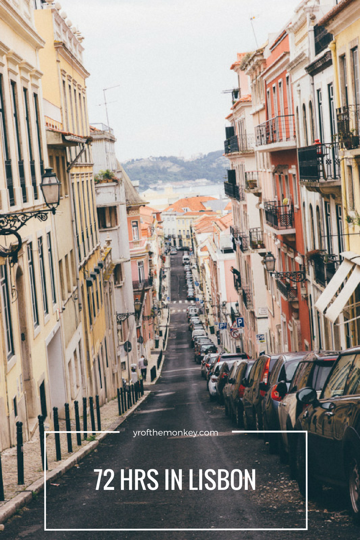 Visiting Lisbon, Portugal? Read this perfect guide to 72 hours in Lisbon which major attractions as well as jawdropping lookout points! A great winter or summer destination, pin this guide to your Europe travel board now! #lisbontravel #lisbon #europetravelguide #europevacation