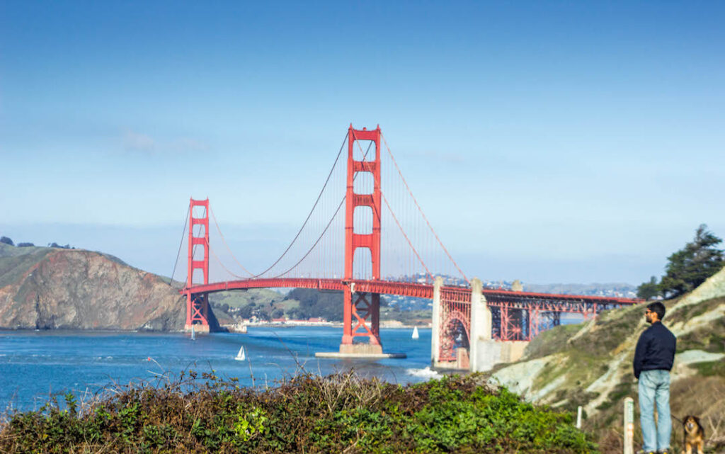 Most dog friendly cities in US, American cities that are dog friendly, dog friendly cities in USA, where to take your dog in USA, San Francisco, California, dog friendly hikes in Presidio
