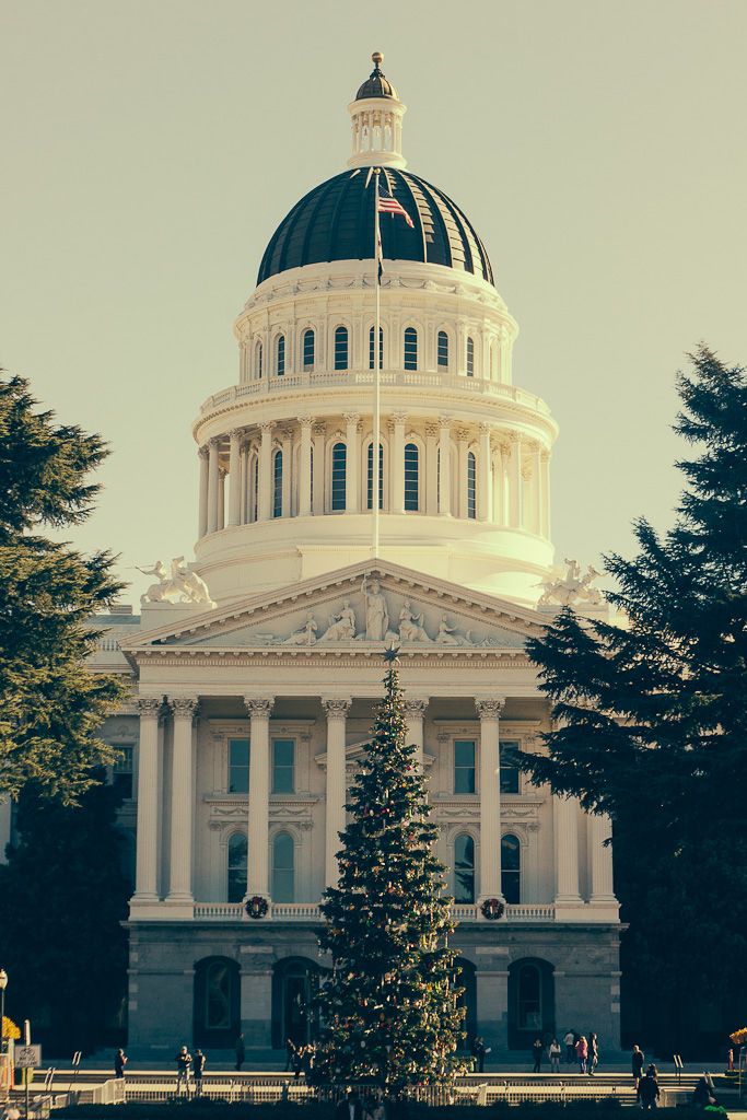 best places to visit in California in December, Sacramento Capitol building