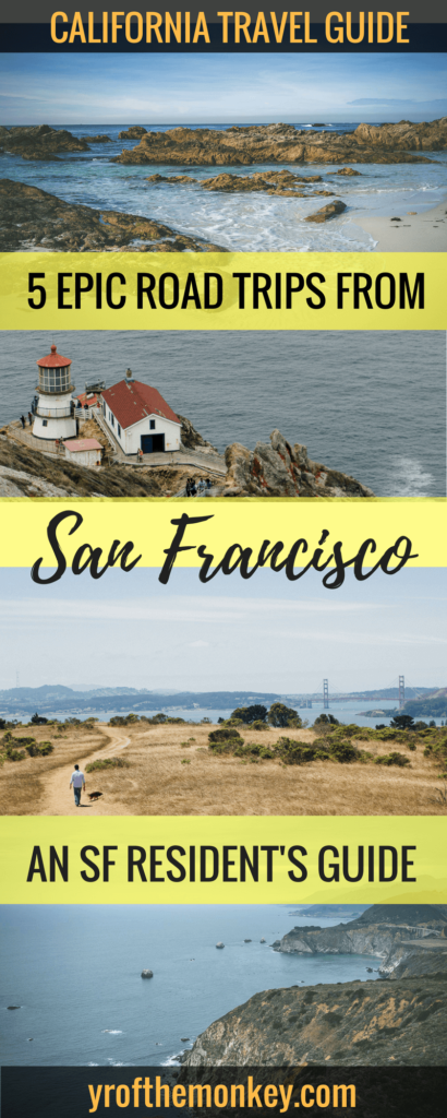 Looking for Bay Area day trips from San Francisco? Look no further than this San Franciscan's guide to 5 epic Bay Area road trip ideas which are easy and amazing day trips. Most are dog friendly and perfect for spring and summer travel. Pin this to your California board now! #springtravel #summertravel #bayareadaytrip #roadtrips #californiatravel #sanfrancisco #bayarea #californiavacation