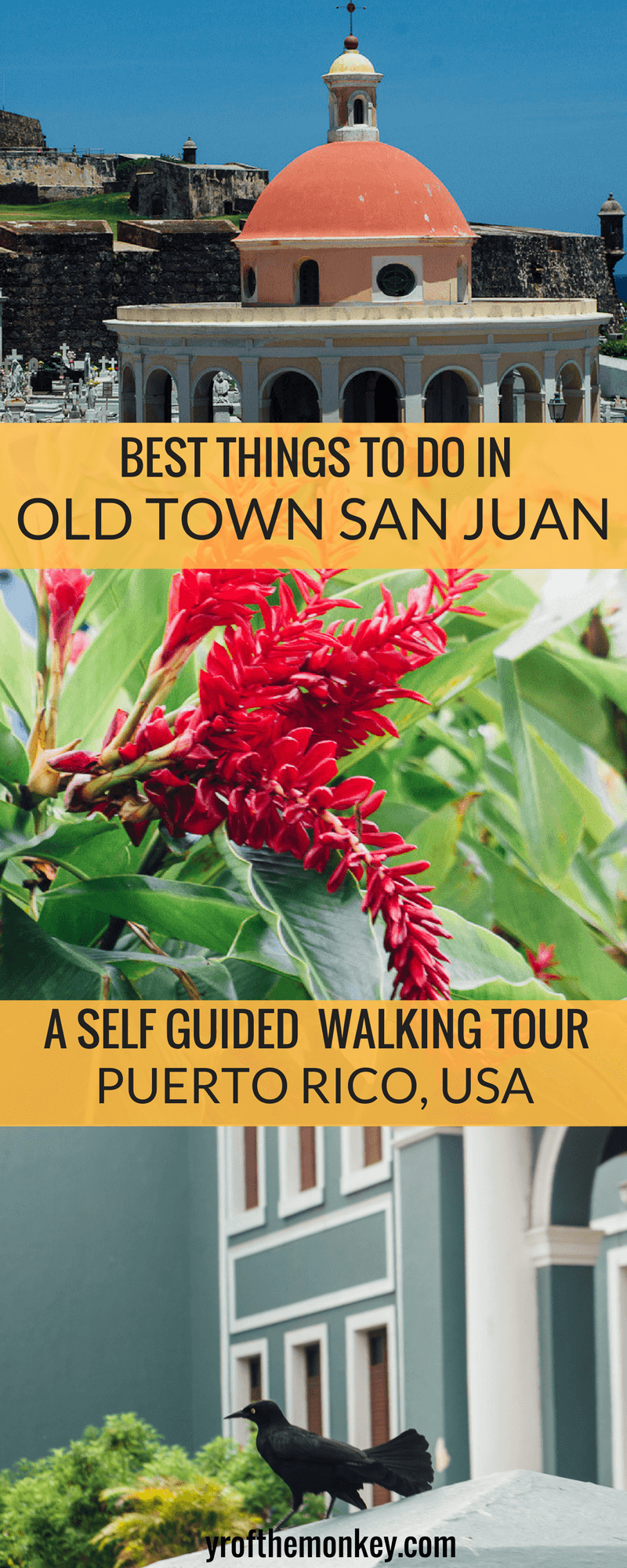 This is a complete self guided walking tour of old town San Juan, the best part of Puerto Rico, USA. This post is a must read for discovering the best things to do in San Juan's old town and includes a budget boutique hotel, plus a walking tour of the city's vibrant art, architecture and museums. Pin this to your USA or Caribbean travels board now! #USA #Caribbean #PuertoRico #SanJuan