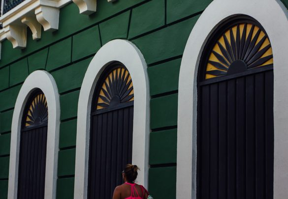 Travel architecture Puerto Rico San Juan Old Town Spanish Colonial Style