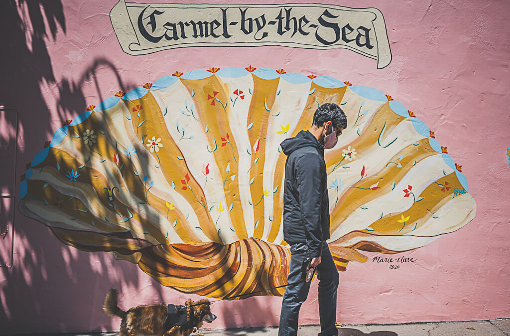 Carmel by the sea is one of the best places to visit California in winter