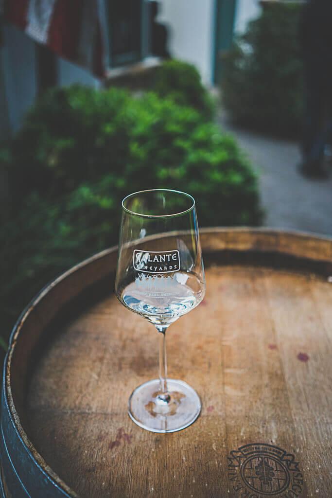 dog friendly wine tasting at Galante Vineyards tasting room in Carmel