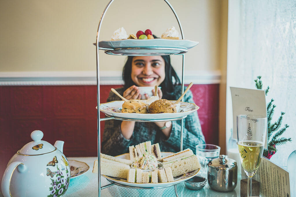 Afternoon tea in San Francisco is a romantic things to do in San Francisco