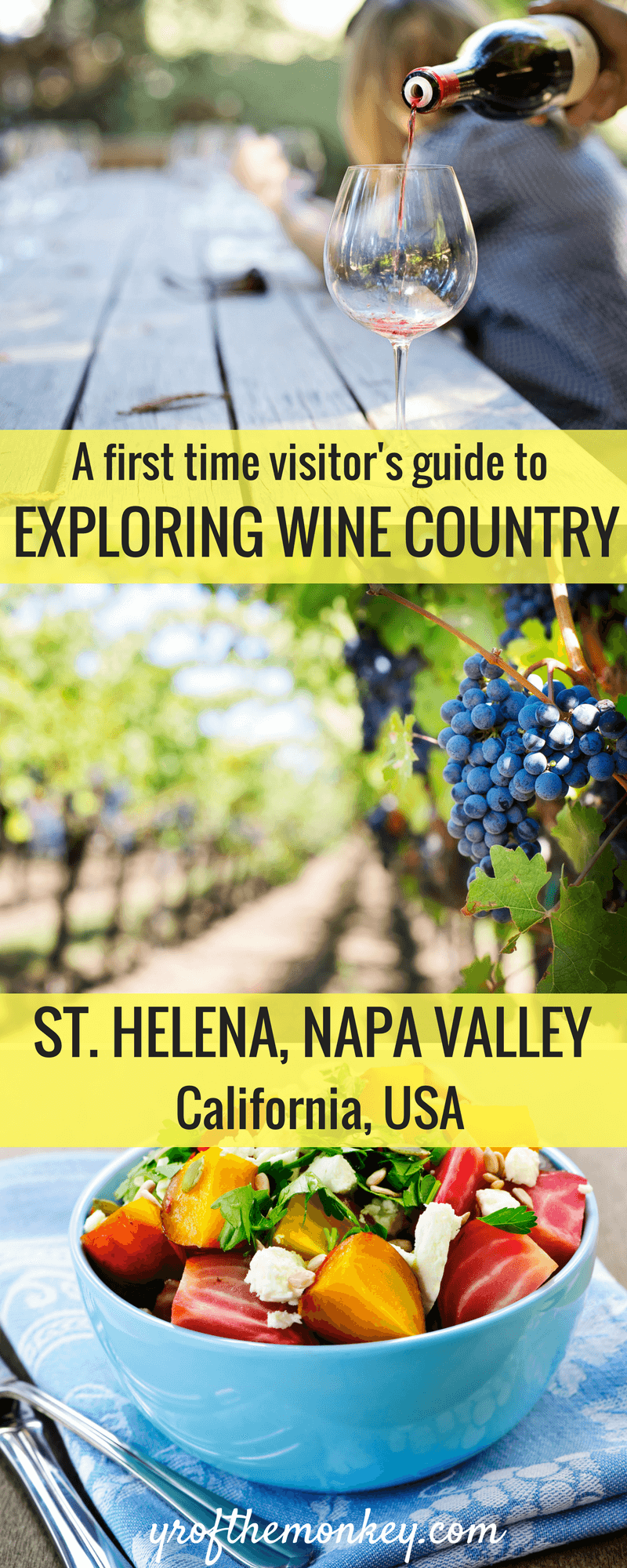 Napa Valley weekend trip: Your guide to St. Helena, Napa, California, USA and tips for dining and wine tasting for the perfect Napa valley itinerary. A handy guide for wine lovers and first time visitors, pin this to your California board for reference. Napa Valley vacation | Napa Valley tour| California travel| Napa valley wine tasting| Napa valley guide| #california #napavalley #wineries #winetasting