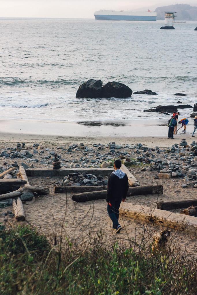 Mile rock beach, dog friendly San Francisco beach, dog friendly beach in San Francisco