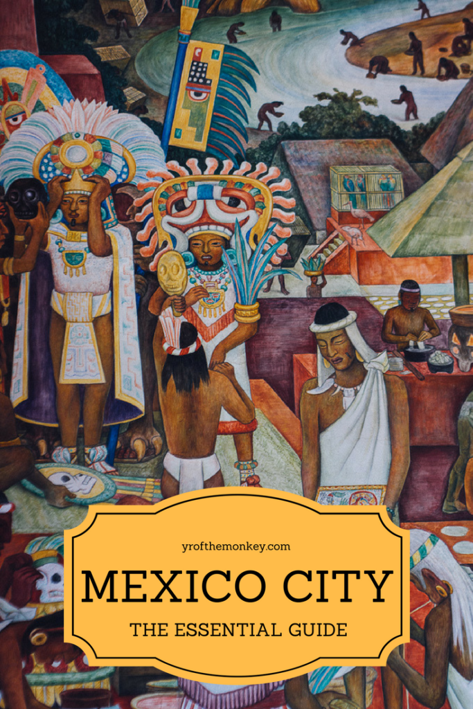 Mexico city travel guide Mural art Diego Rivera
