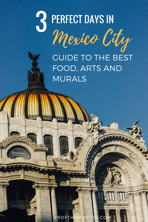 Three days in Mexico city is the perfect food, arts and mural centric guide to Mexico's capital. Read this post on where to see Diego Rivera's best murals for free, Frida Kahlo's home, a street food tour and other attractions to make the best of your stay in CDMX. Pin this to your Mexico board now! #mexicocity #fridakahlo #CDMX #Diegorivera #foodtour #mexicocityfoodtour #Mexicotravel