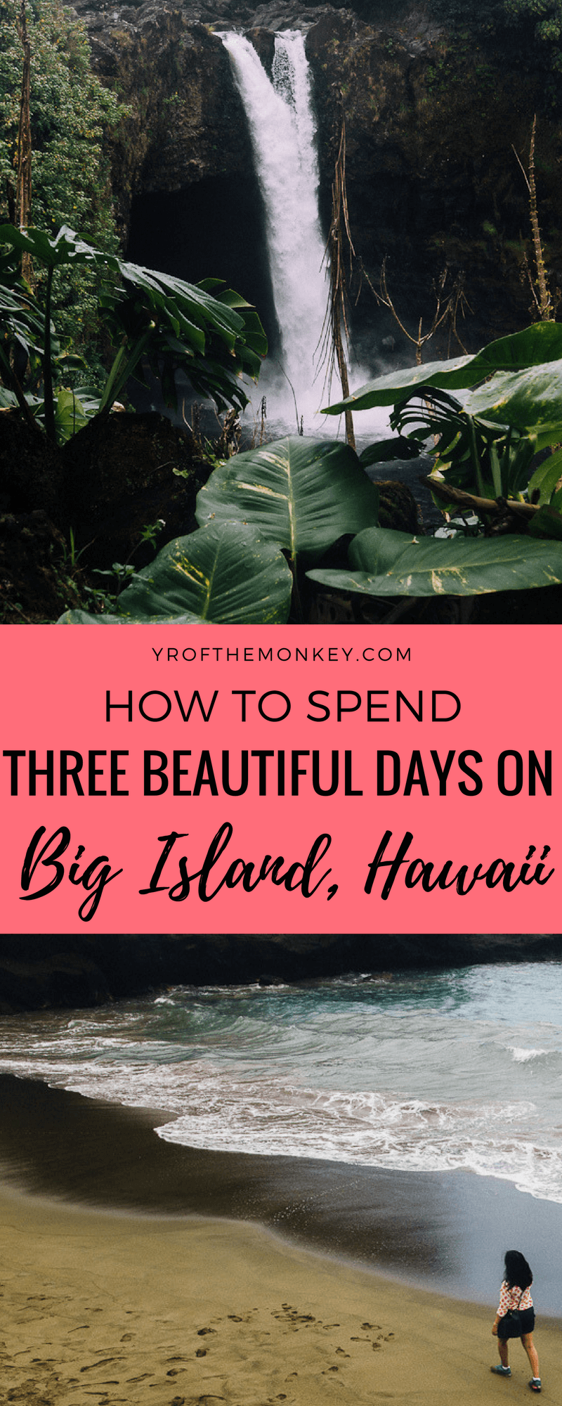 The ultimate travel guide to Big Island, Hawaii, USA listing the top attractions and yummy local food that you must try in Hilo and Kona. Includes secret beaches, lava sighting and a coffee tour. #hawaii #bigisland #usa #americas #volcano