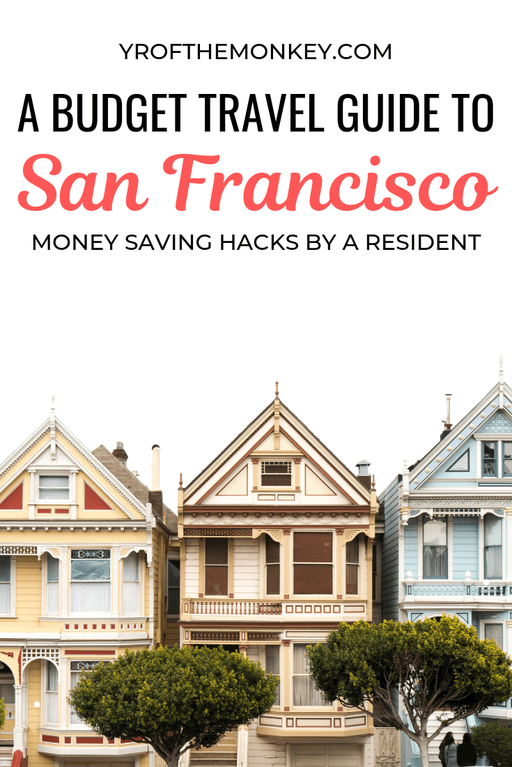 San Francisco (California, USA) is in the top 3 most expensive cities in USA. So if you are planning to visit on a budget, read this foolproof guide loaded with money saving hacks by an SF resident. Pin this to your USA or California board now! #California #Sanfrancisco #USA #NorthAmerica #budgettravel #travelonabudget #budgetguide #travelhacks