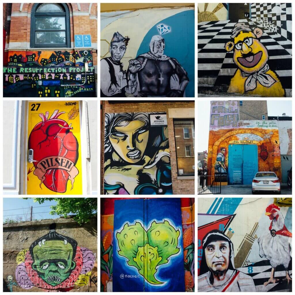 Self guided tour of Chicago street art in Pilsen