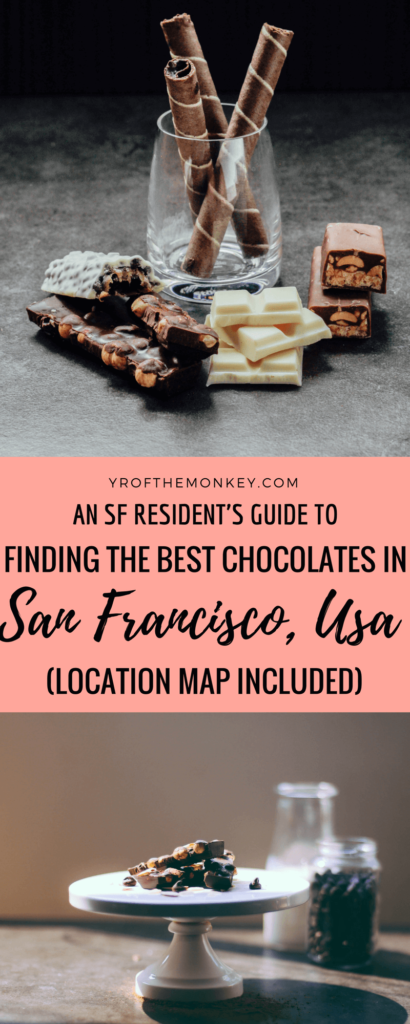 Local's guide to Best Chocolate San Francisco, USA I San Francisco chocolate stores I Local artisan chocolates San francisco, California I Where to find the best chocolates in San Francisco I Bean to bar chocolates in San Francisco I San Francisco chocolatiers #sanfrancisco #chocolate #local #california #chocolatestores #likealocal