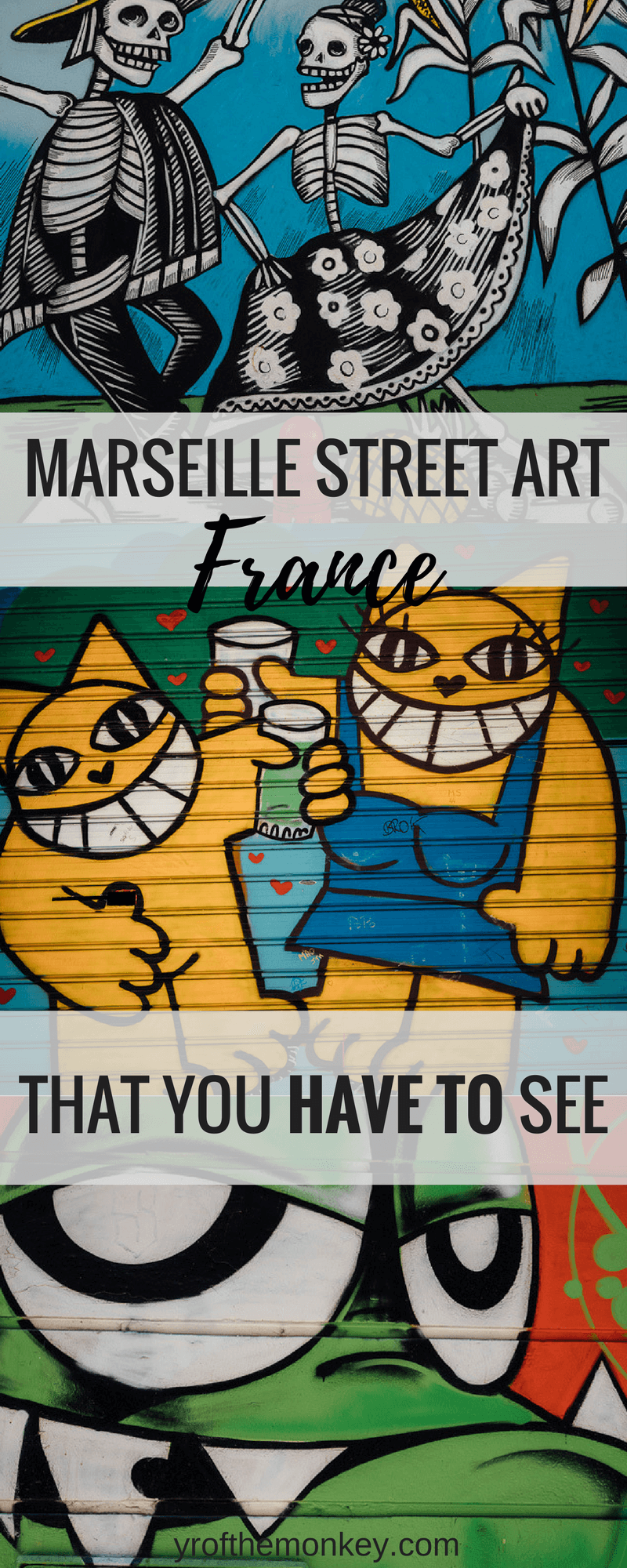 Marseille street art guide is your virtual tour of murals and street art in Marseille, France in the Le Panier and Cours Julien neighborhoods. Locations mentioned for you to explore these lovely murals in France's port city #travel #murals #streetart #street art #art #graffiti #Europe #France #Marseille