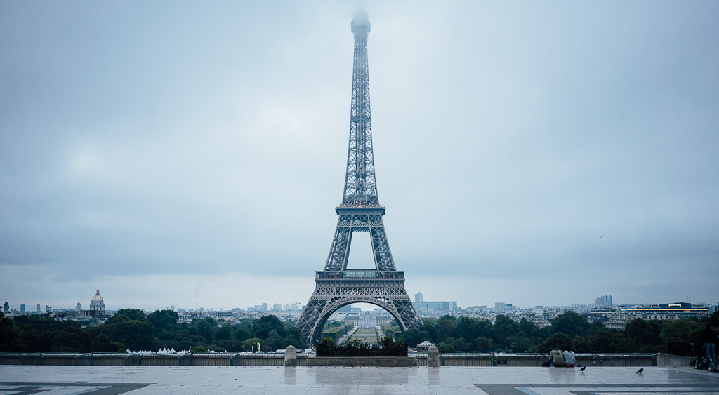 Eiffel tower in Paris, 7th arrondissement