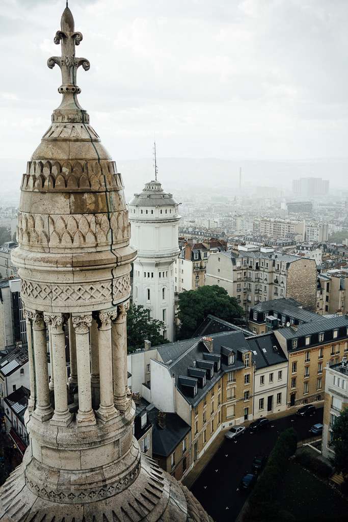 The top of Sacre Coeur, things to do in Paris in one day