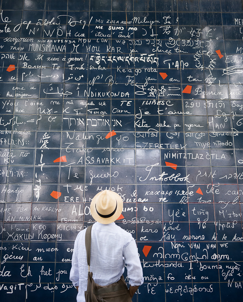 The Love wall in Paris