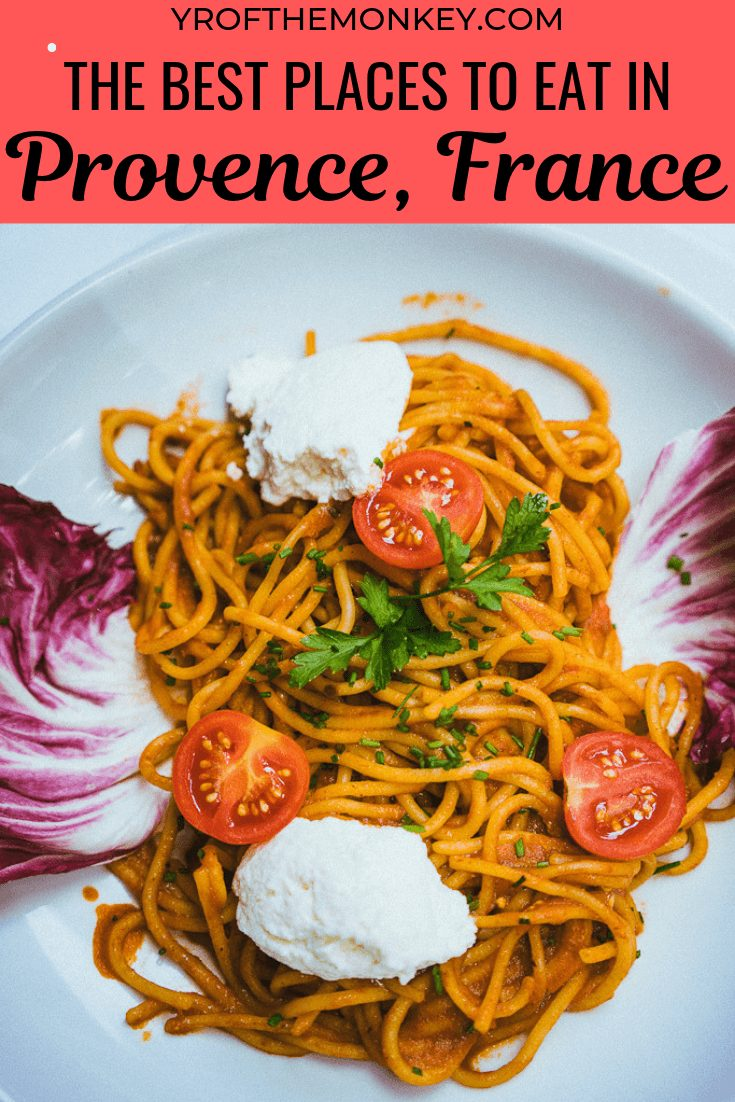 This is a provence restaurant guide to finding the best provencal dishes in Provence, France. Bakeries, farmers markets and food halls also included, plus vegetarian options added. Pin this to your France or Europe or Foodie board for future! #dininginfrance #provence #foodieguide #frenchrestaurants #michelinrestaurants #diningguide #europe