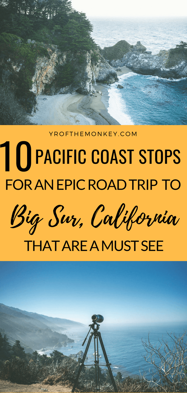A California road trip along the Pacific coast on Highway 1 is one of the most scenic drives in the world. Read this Big Sur road trip guide with 10 unmissable stops between San Francisco and San Simeon to plan your epic road trip today! Has handy tips on where to stay and eat at Big Sur as well. Pin it to your California or USA board now! #roadtrip #california #USA #BigSur #Californiaroadtrip #pacificcoast #highway1
