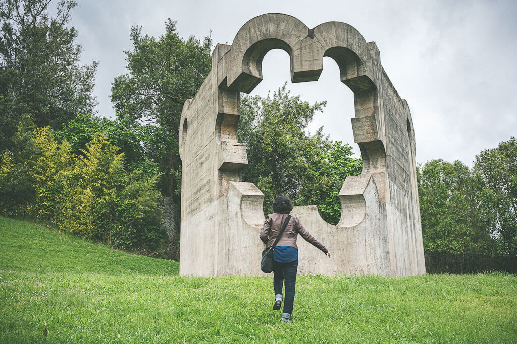 Guernica sculpture garden in the Basque region of Spain. Guernica is a Basque town which you should visit on your northern Spain road trip from Bilbao to San Sebastian