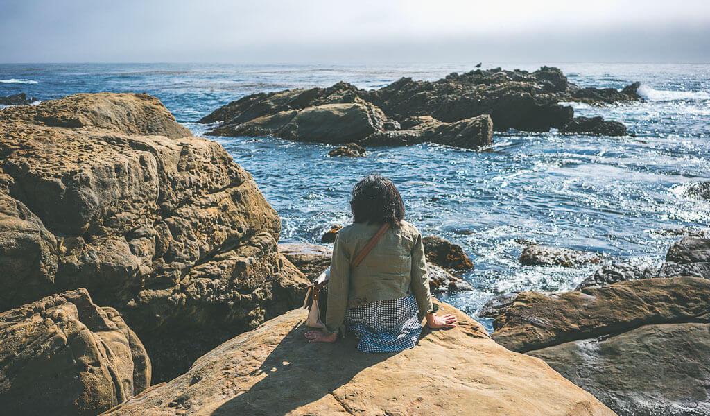 Point Lobos natural reserve at Big Sur, Highway 1 stop