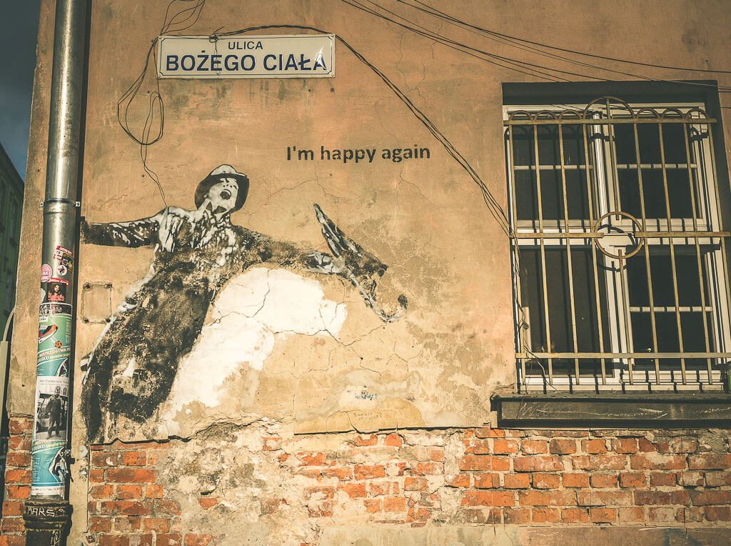 An offbeat guide to 3 days in Krakow, Poland. This is a famous mural in Krakow in the Jewish quarters.