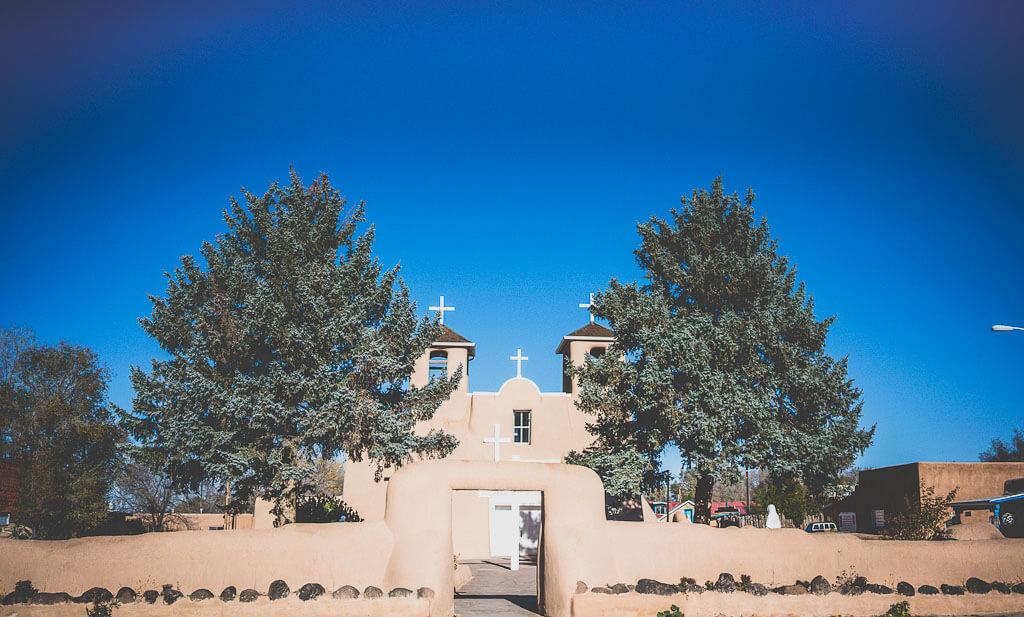Taos to Santa Fe, San Francisco de Asis church