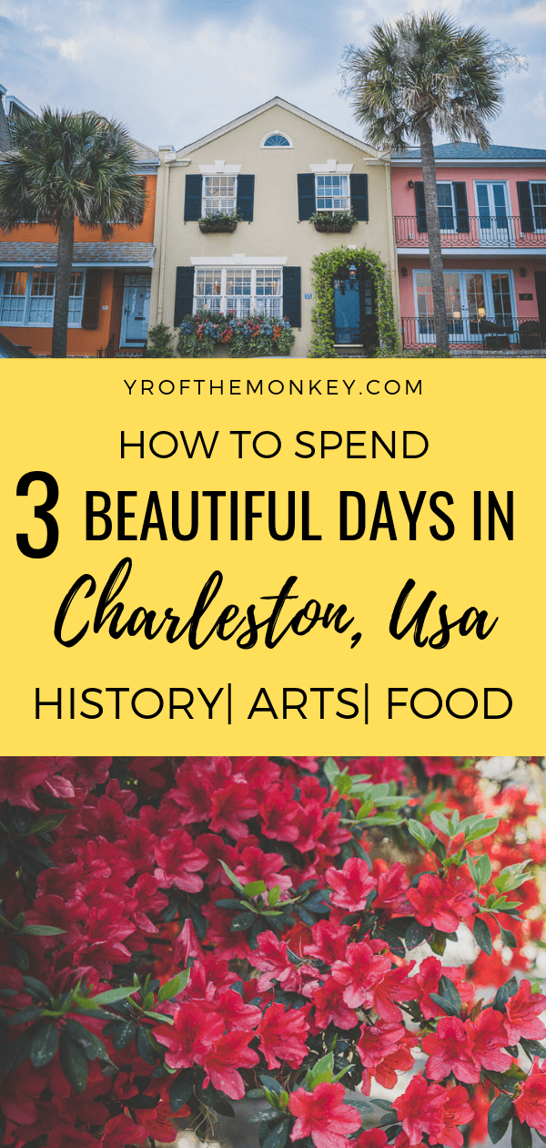 Looking for what to do for 3 days in Charleston, South Carolina, USA? Then read this Charleston itinerary focusing on history, walking tours, art , architecture and the best places to eat in this charming colonial city in the American South famous for its blooming azaleas and architecture. Pin this to your USA board now! #Charleston #SouthCarolina #USA #Americansouth #NorthAmerica #culturetravel #charlestonrestaurants #foodietravel #arts #architecture