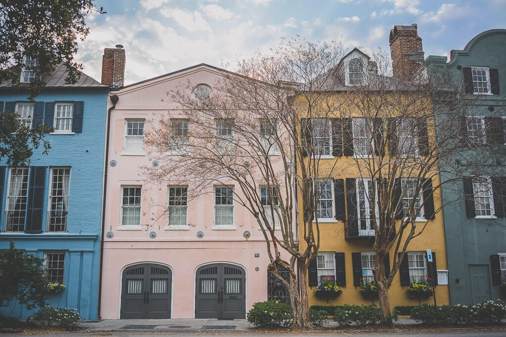 Rainbow Row, Charleston South Carolina