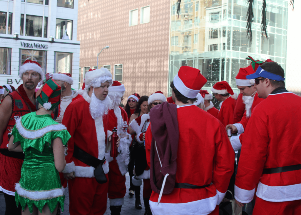How to spend Christmas in San Francisco, holiday season and Christmas events, Union Square, Santacon in San Francisco