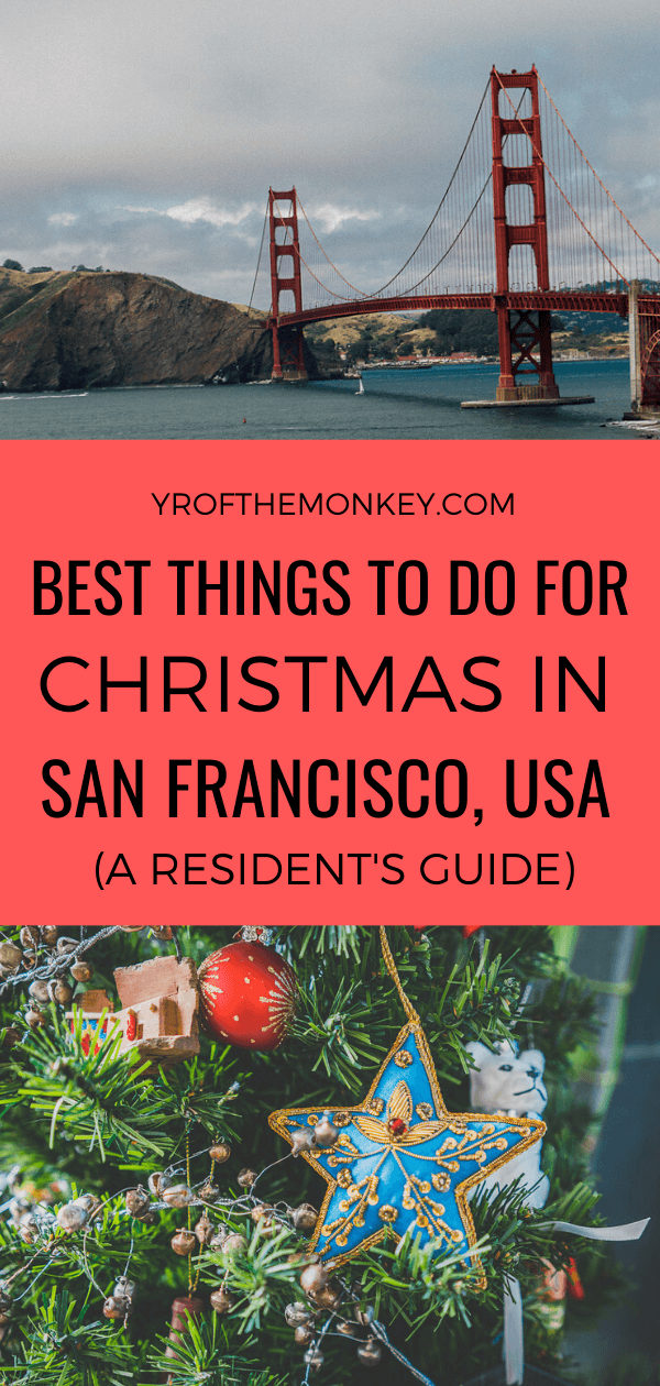 Wondering how to spend Christmas in San Francisco, California, USA? Then read this resident's guide on 10 spectacular ways to celebrate the holiday season in fog city outlining the top holiday attractions and Christmas events. Pin this to your USA or holiday travel board now! #Sanfrancisco #USA #California #northamerica #holidaytravel #holidayseason #Christmas #Christmasvacation