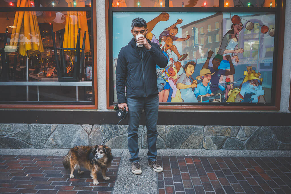 Dogs are welcome in LA's Japantown