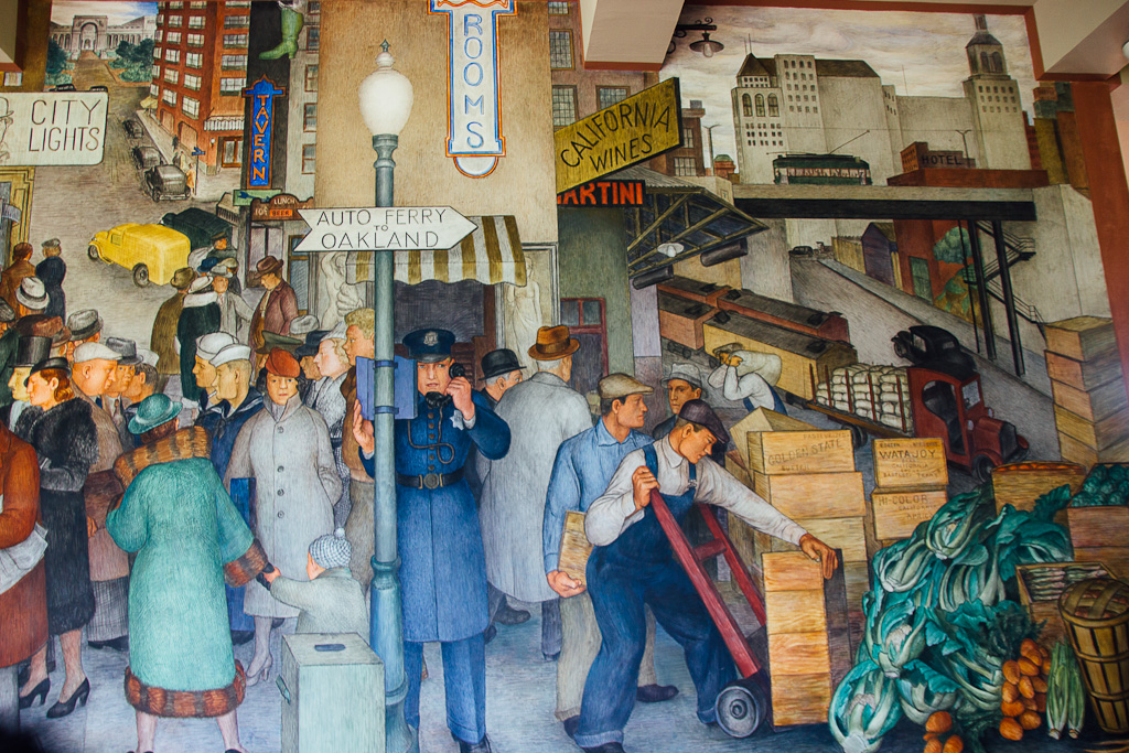 San Francisco murals in Coit tower