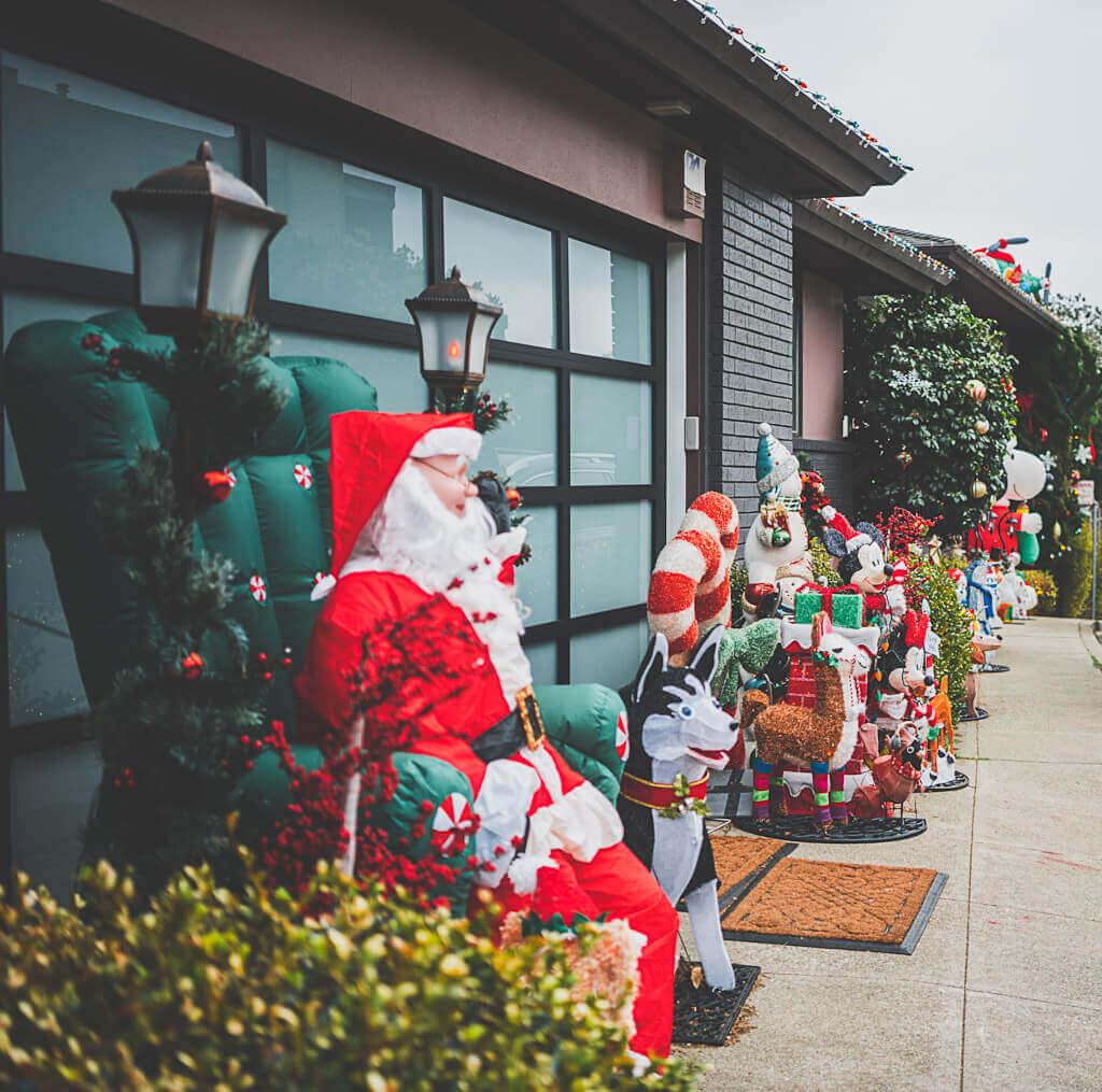 Holiday decor and Christmas decor in Glen park, San Francisco