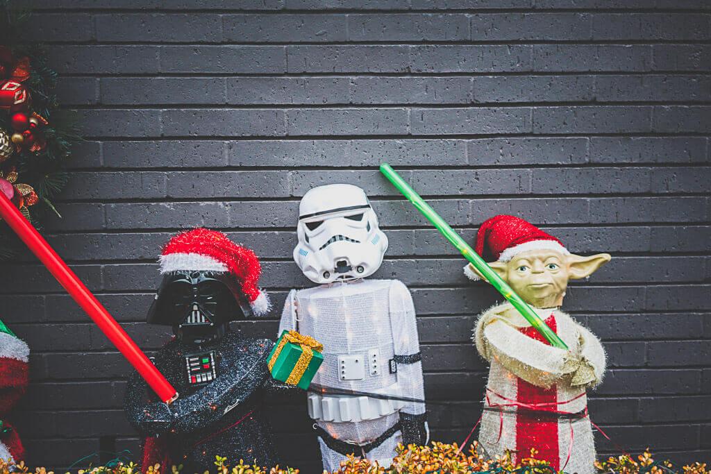 San Francisco Christmas decor, Star wars Christmas decor