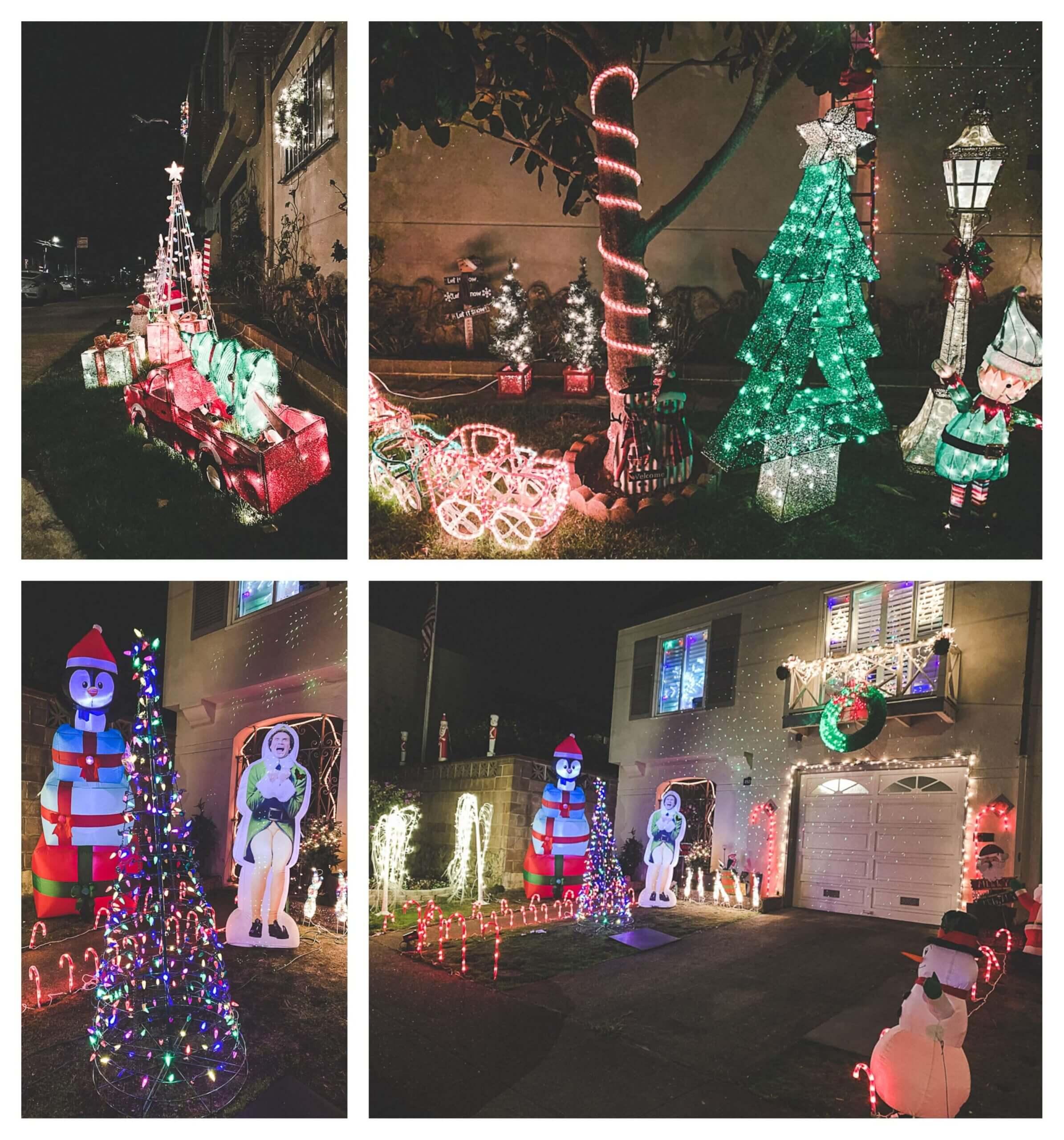 Christmas lights of San Francisco in Sunset neighborhood