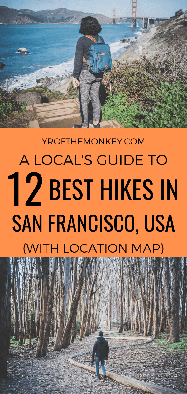 Looking for the best hikes in San Francisco? Then read this local's guide on the best hiking trails in SF leading to gorgeous scenic views. Pin this list of the best places to hike in San Francisco to your California or hiking board now! #SanFrancisco #USA #America #California #hikingtrails #hikinginsanfrancisco #Californiahikes #urbanhiking