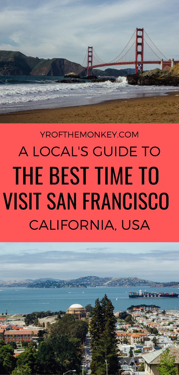 Looking for the best time to visit San Francisco? Then let this resident's guide help you in figuring out the best time to travel to San Francisco, be it spring, summer, fall or winter #SanFrancisco #USA #California #NorthAmerica #Sanfranciscotravel #sanfranciscovacation #likealocal #localsguidesanfrancisco