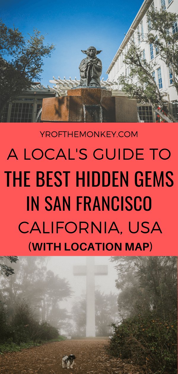 Looking for hidden gems in San Francisco? Then read this local's guide to the best San Francisco secrets, offbeat attractions and hidden wonders. Pin this to your San Francisco or California board now! #sanfrancisco #USA #America #California #sanfranciscotourism #sanfranciscohiddengems #secretspotsinsanfrancisco #sanfranciscovacation #californiavacation #localsguide