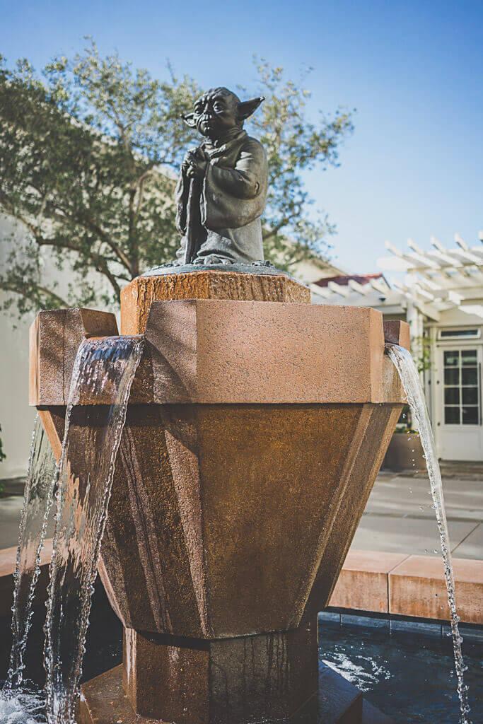 Yoda Fountain is a hidden attraction in San Francisco