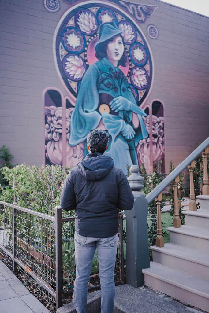 Betty Inada mural in Sacramento self guided mural tour