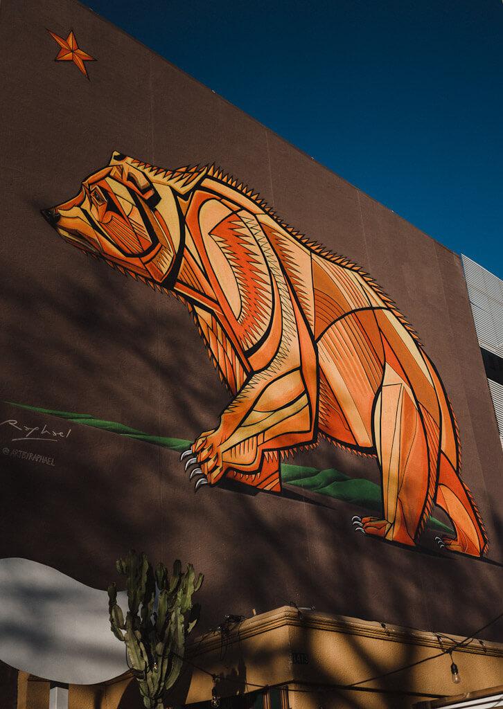California bear mural by Raphael Delgado