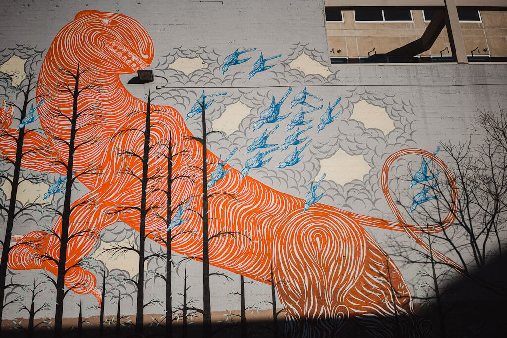 Tiger mural in midtown Sacramento