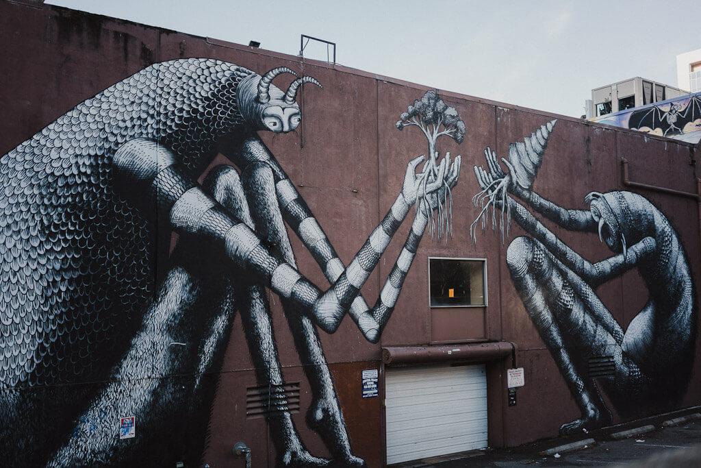 Downtown Sacramento Murals: Phlegm mural
