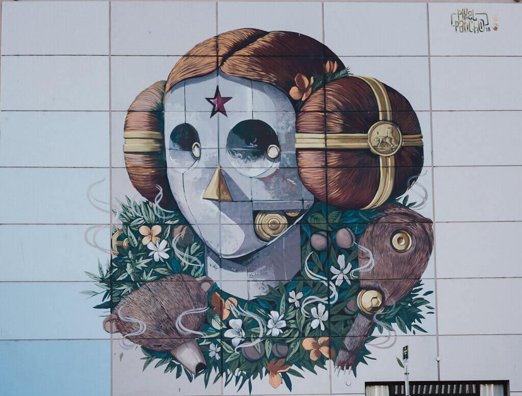 Pixel Pancho Mural in Sacramento