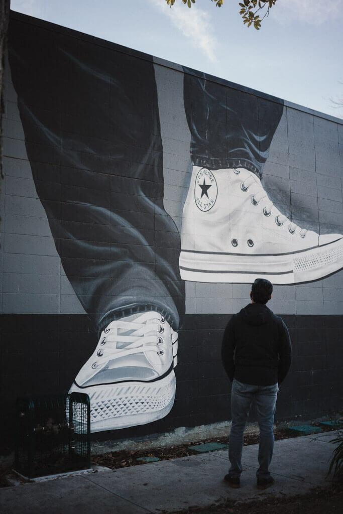Converse Sneakers mural in Sacramento