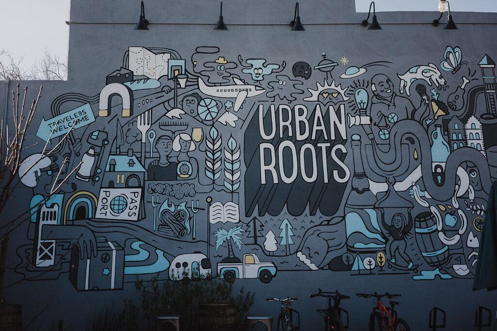 Urban Roots mural, Sacramento murals guide
