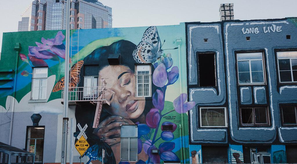 Madelyne Joan Templeton mural in Sacramento