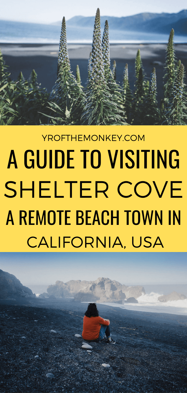 Looking to visit Shelter Cove, California's remotest beach town on the Lost Coast? Then read this guide on how to get there and the best things to do in Shelter Cove including fantastic black sand beaches, where to eat and stay. Pin this to your USA or California board now! #sheltercove #northerncalifornia #California #USA #America #lostcoast #redwoods #humboldtcounty #californiaroadtrip #blacksandbeach